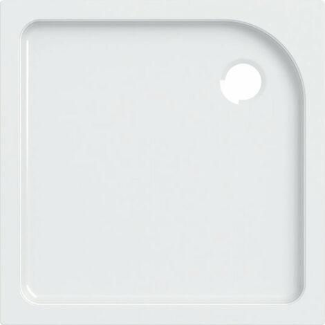 Receveur de douche carré Geberit Tala, brillant / blanc, 80 x 80 cm - 662480000
