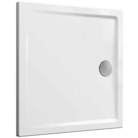 Receveur de douche céramique Cascade ultra-plat blanc brillant 120x80 cm