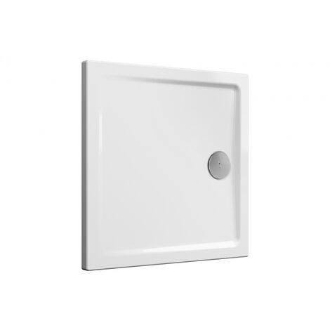 Receveur de douche céramique Cascade ultra-plat blanc brillant 90x90 cm