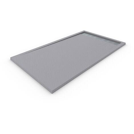 Receveur de douche DELUXE avec cadre 80x110 cm Gris clair