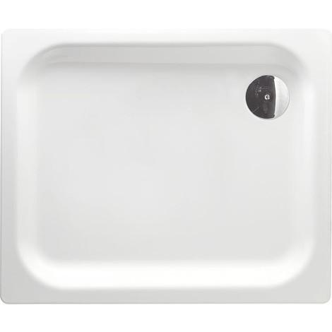 Receveur de douche EDURA blanc, lxHxP : 900x25x750 mm acier émaillé