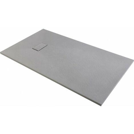 Receveur de douche effet pierre gris 180x90 joy