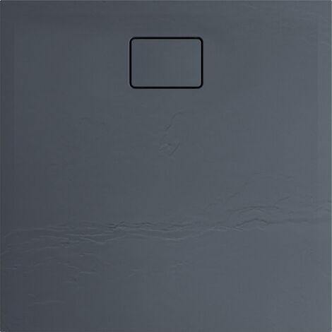 Receveur de douche effet pierre TERRENO 120 x 90 noir - Noir Basalte