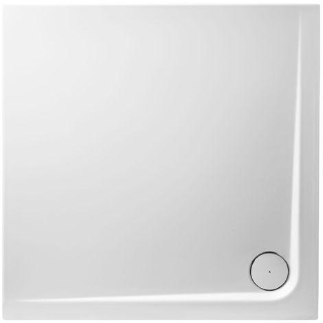 Receveur de douche en acrylique 100x100x4,5 rectangulaire AMI4 blanc