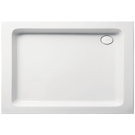 Receveur de douche en acrylique 100x80x10 rectangulaire FUN19 blanc
