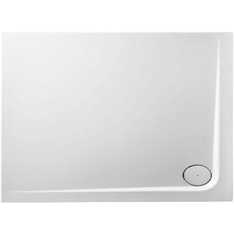 Receveur de douche en acrylique 110x80x4,8 rectangulaire AMI10D blanc