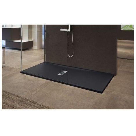 Receveur de douche en acrylique 12 cm noir mat Novellini Custom