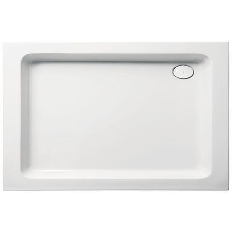 Receveur de douche en acrylique 120x80x10 rectangulaire FUN18 blanc