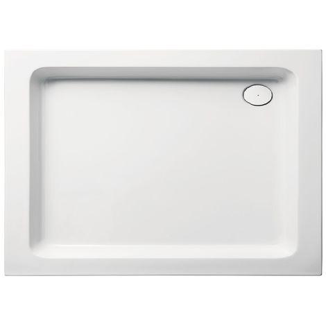 Receveur de douche en acrylique 120x90x10 rectangulaire FUN12 blanc