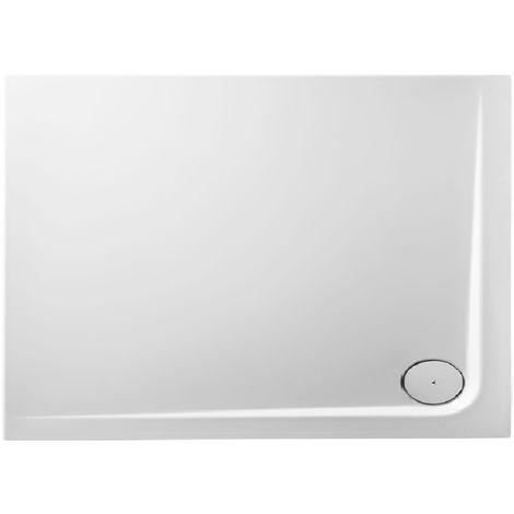 Receveur de douche en acrylique 120x90x4,8 rectangulaire AMI12D blanc