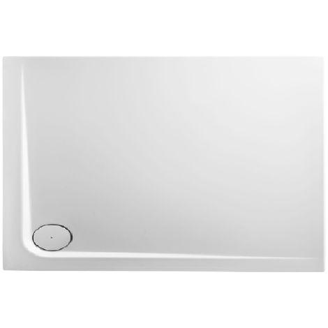 Receveur de douche en acrylique 120x90x4,8 rectangulaire AMI12L blanc