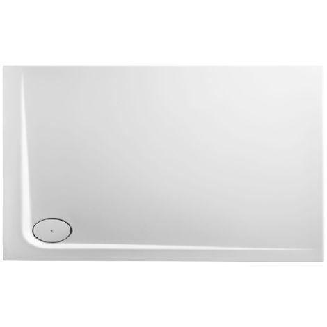 Receveur de douche en acrylique 130x80x13,8 rectangulaire AMI13OL blanc