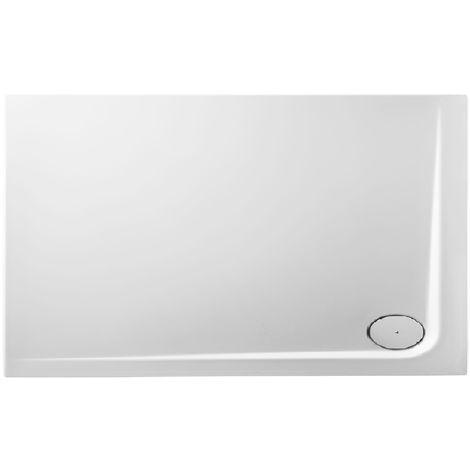 Receveur de douche en acrylique 130x80x4,8 rectangulaire AMI13D blanc
