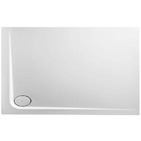 Receveur de douche en acrylique 130x90x4,8 rectangulaire AMI16L blanc