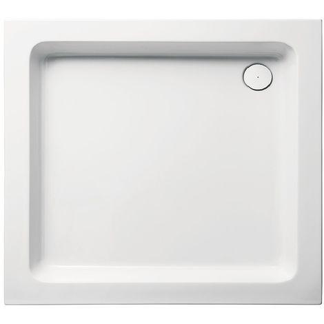 Receveur de douche en acrylique 75x90x10 rectangulaire FUN1 blanc