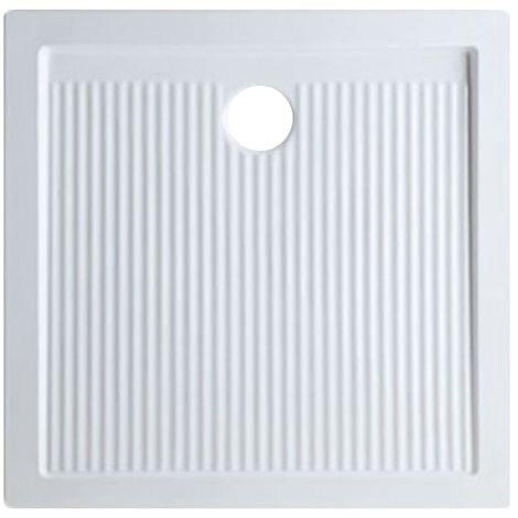 Receveur de douche en céramique 80x80 cm serie Ariston | Blanc