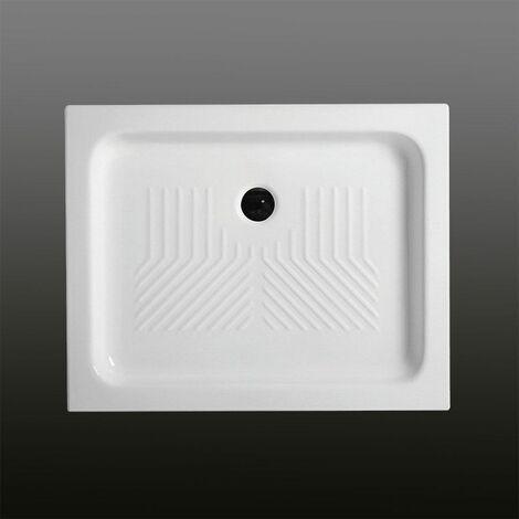 receveur de douche en c ramique rectangulaire 70x100 cm. Black Bedroom Furniture Sets. Home Design Ideas