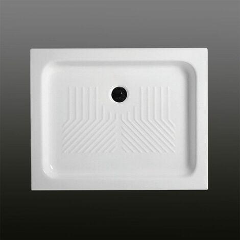 receveur de douche en c ramique rectangulaire 70x90 cm. Black Bedroom Furniture Sets. Home Design Ideas