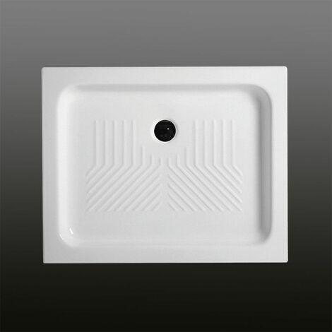 receveur de douche en c ramique rectangulaire 80x120 cm. Black Bedroom Furniture Sets. Home Design Ideas