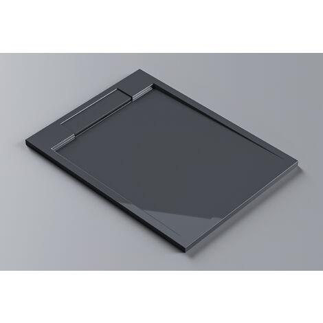 Receveur de douche en pierre solide(Solid Surface) M2290CG / PB3085GG - gris brillant -120x90x3,5cm