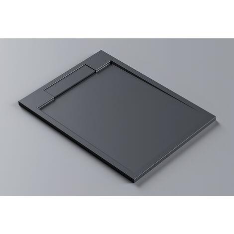 Receveur de douche en pierre solide(Solid Surface) PB3085MG - gris mat -120x90x3,5cm