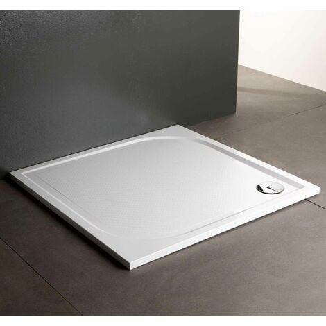 receveur de douche en r sine 70x70 au ras du sol klio. Black Bedroom Furniture Sets. Home Design Ideas