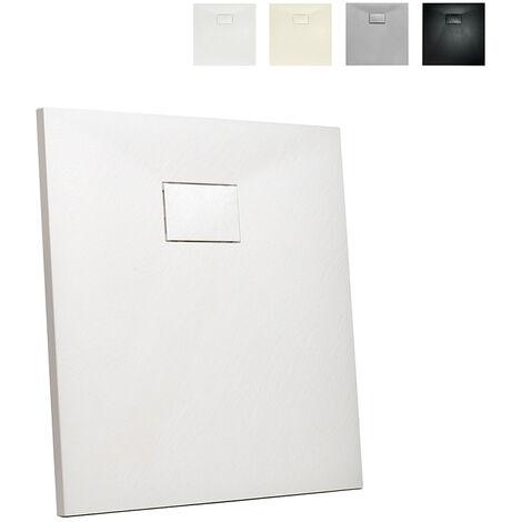 Receveur de douche en résine carré 80x80 pour salle de bain moderne Stone