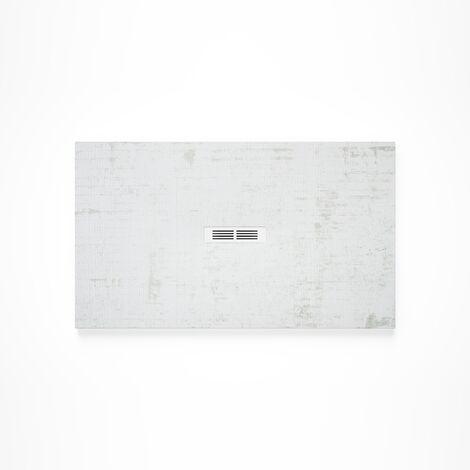 Receveur de douche en résine HELIOS - 1200x900x27mm - Blanc décapé