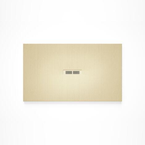 Receveur de douche en résine HELIOS - 1600x900x30mm - Crème