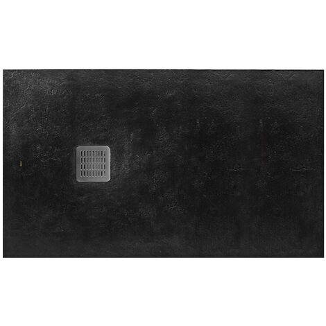 Receveur de douche en résine TERRAN - 1200x800x28mm - Noir