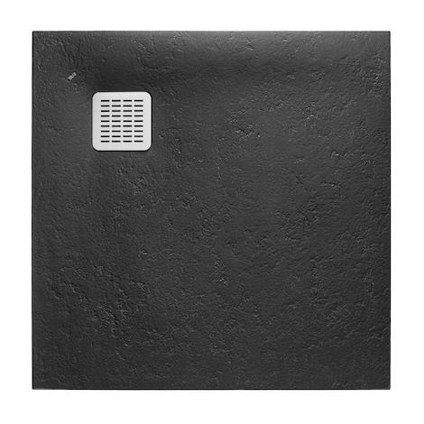 Receveur de douche en résine TERRAN - 800x800x26mm - Noir