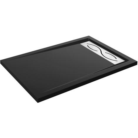 Receveur de douche extra plat BAIKAL Noir 120x80cm