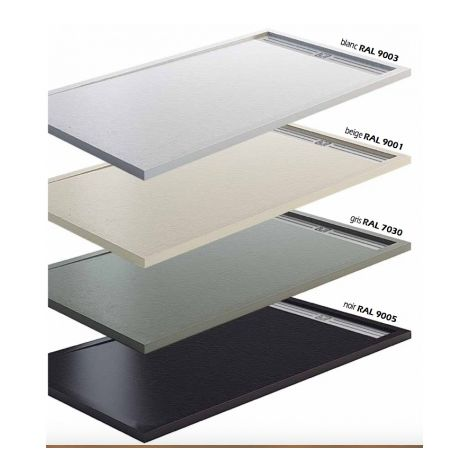 receveur de douche extra plat beige 180x90 blanc. Black Bedroom Furniture Sets. Home Design Ideas