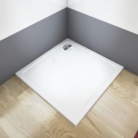 Receveur de douche extra plat carré 70/76/80/90/100cm