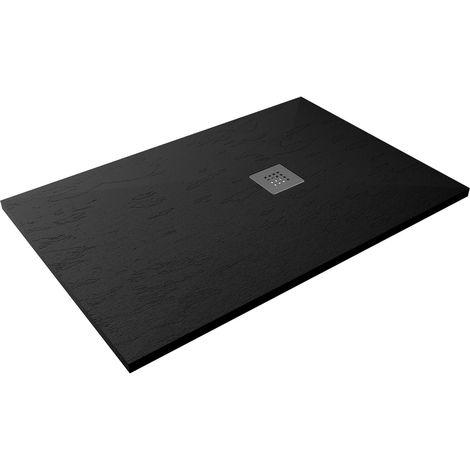 Receveur de douche extra-plat CLASIC Pizarra 80x100 Noir