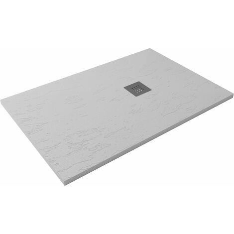Receveur de douche extra-plat CLASIC Pizarra 80x140 Blanc Casse