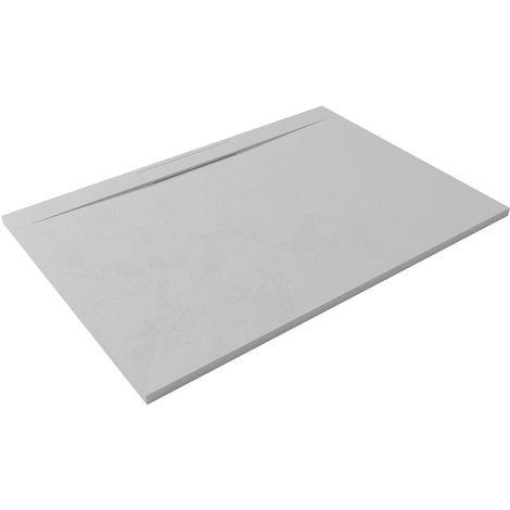 Receveur de douche extra-plat design LYRA 80x100 blanc