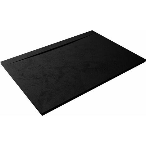 Receveur de douche extra-plat design LYRA 80x100 noir