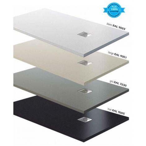 Receveur de douche extra plat en charge minérale 110x80 cm gris Ardesia Plus - Gris