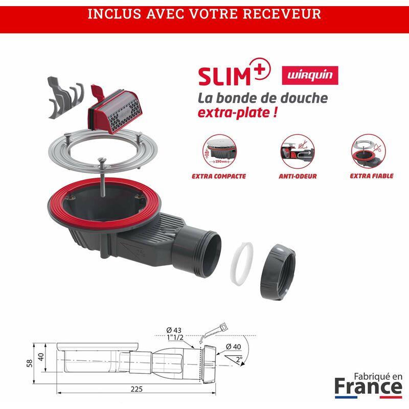 Receveur de douche extra plat Gris Ciment 90x120 cm