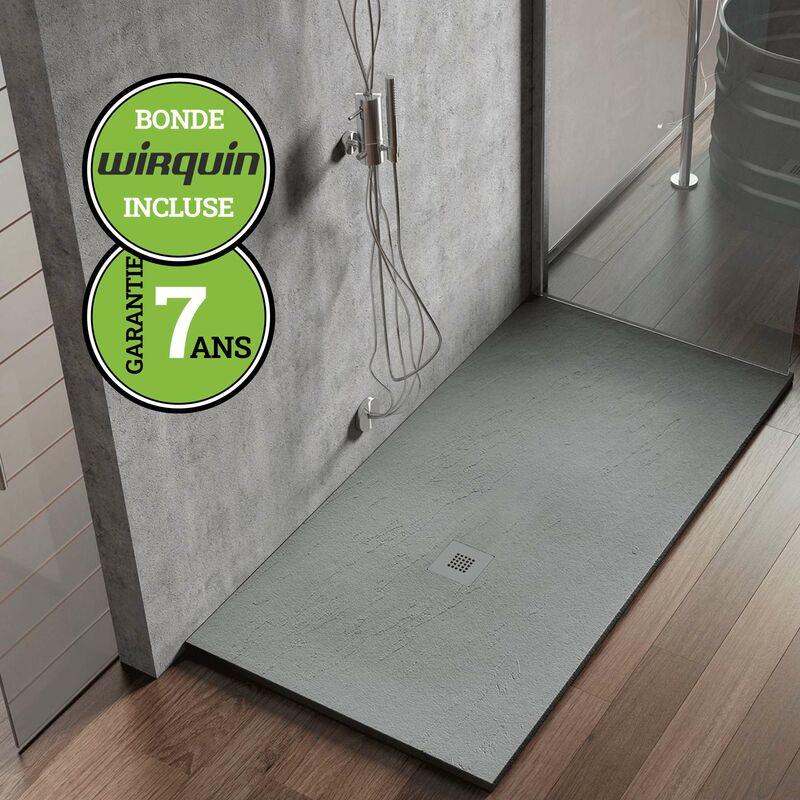 receveur de douche extraplat  gris ciment  70x140 cm
