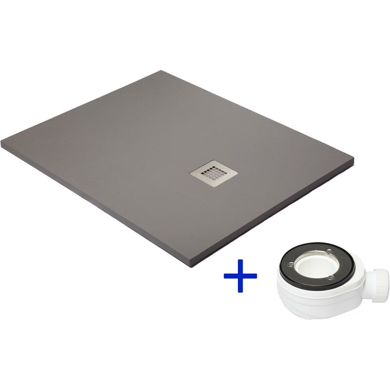 receveur de douche extra plat gris poussi re ral 7037. Black Bedroom Furniture Sets. Home Design Ideas