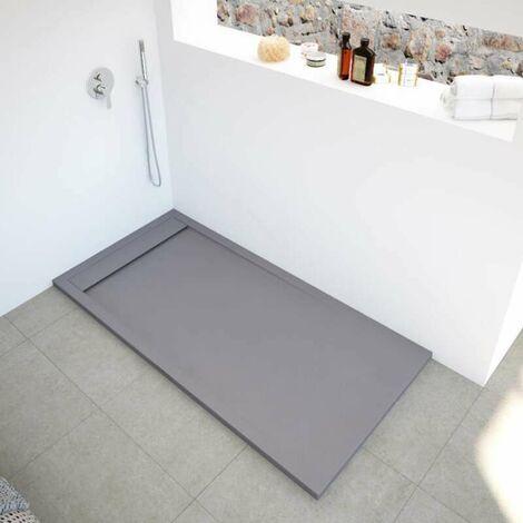 Receveur de douche extra plat NEW YORK surface ardoisée, gris
