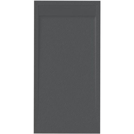 Receveur de douche extra plat NEW YORK surface ardoisée, noir