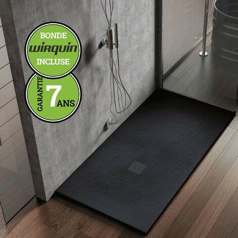 Receveur de douche extra-plat - Noir Anthracite - 100x200 cm | Collection K I antiderapant et pose rapide - Gris & Noir