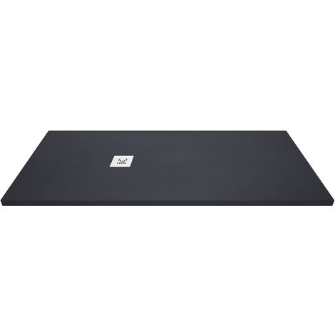 Receveur de douche extra-plat - Noir Anthracite - 110x200 cm   Collection K I antiderapant et pose rapide