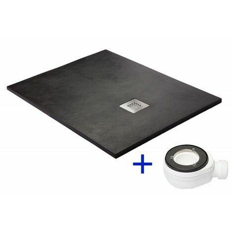 Receveur de douche extra plat noir Ral 9005 70x110