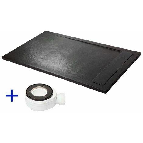 receveur de douche extra plat premium ambiente noir. Black Bedroom Furniture Sets. Home Design Ideas