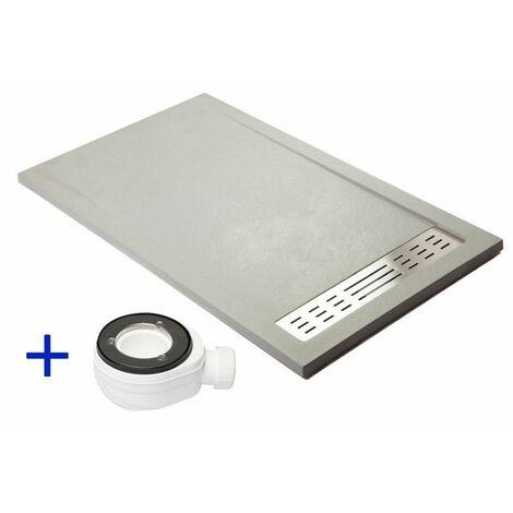 Receveur de douche extra plat PREMIUM Gris poussière Ral 7037 70x110