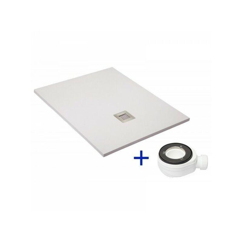 receveur de douche extra plat quartz blanc ral 9003 70x100. Black Bedroom Furniture Sets. Home Design Ideas